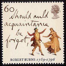 Robert Burns - The Immortal Memory 60p Stamp (1996) 'Auld Lang Syne' and…