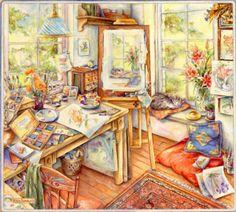 Artist's Studio Kim Jacobs