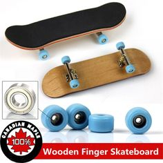 Professional Type Bearing Wheels Skid Pad Maple Wood Finger Skateboard Alloy Stent Bearing Wheel Fingerboard Novelty Toy