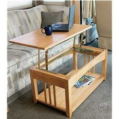 Convert your RV coffee table into a dinner table or desk in seconds | RV Travel
