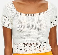 Crochet Border Patterns, Crochet Bikini Pattern, Crochet Crop Top, Crochet Diagram, Crochet Cardigan, Knit Crochet, Crochet Skirts, Crochet Clothes, Crop Top Pattern