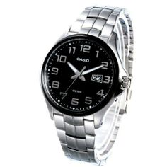 Casio Men's MTP1319BD-1AV Silver Stainless-Steel Quartz Watch with Black Dial Casio. $67.90. 50 Meters / 165 Feet / 5 ATM Water Resistant. Mineral Crystal. Quartz Movement. 48mm Case Diameter. Save 20%!