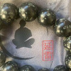Meteorite Mala – Shifu Yan Lei Mala Meditation, Black Polish, Jade Stone, Amulets, Is 11, Gourd, Christmas Bulbs, Stones, Chinese