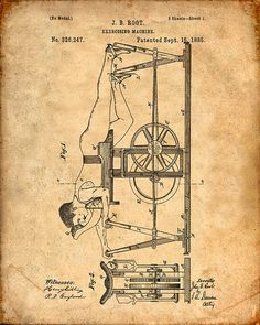 Exercising Machine Patent from 1885