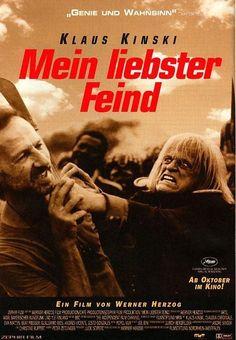 A Fascinating Man: My Best Fiend, Mein liebster Feind - Klaus Kinski by Werner Herzog, 1999 (NR) Claudia Cardinale, Cinema Posters, Film Posters, My Best Enemy, Werner Herzog Film, Rescue Dawn, Science Fiction, Best Fiends, Film Books