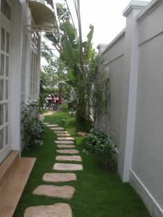 Side Garden, Terrace Garden, Garden Paths, Back Gardens, Small Gardens, Outdoor Paving, Side Yard Landscaping, Small Backyard Design, Minimalist Garden