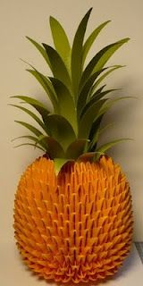 Let's create: Origami Pineapple & Tutorial Beautiful Pineapple but far too much work for me.