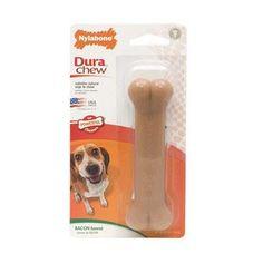 NYLABONE DURA CHEW BACON DOG CHEW BONE PETITE - BD Luxe Dogs & Supplies