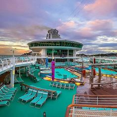 Sailing from Singapore? Mariner of the Seas features three swimming pools and seven whirlpools onboard.