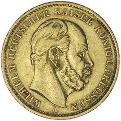 Preussen, Wilhelm I. 1861 - 1888  20 Mark 1874 A Gold Deutsches Kaiserreich