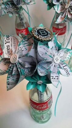 Beatles Wedding Set Handmade Made To Order Paper Flowers Bride