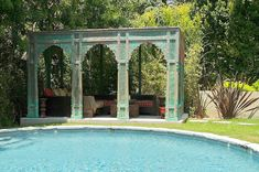 Image gallery of Indian style outdoor garden furniture from Worldcraft Industries. Ottoman Furniture, Custom Furniture, Wooden Furniture, Moroccan Style, Indian Style, Joely Fisher, Outdoor Seating, Outdoor Decor, Hollywood Homes