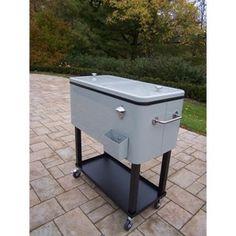 Metal Outdoor Cooler Cart