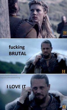 Kalf and Lagertha. Vikings