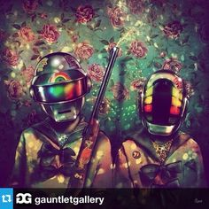 Gauntlet Gallery is proud to present Daft Punk Deux, its second annual art exhibit inspired by the French electronic music duo. Last year Daft Punk re. Daft Punk, Punk Art, Art Pop, Hipster Stuff, Group Art, Futuristic Art, Pop Surrealism, Cultura Pop, Sketches