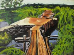Cambodian Jungle Oil Painting