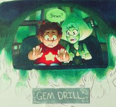 The cluster was probably far more terrifying to peridot once Steven began communicating with it. Imagine what must've been going on as Steven is mentally panicking and peridot  can't do anything about it