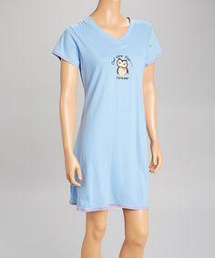 Blue 'Owl Love You Forever' Sleepshirt