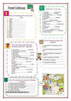 A motivating worksheet with simple exercises for beginners - ESL worksheets
