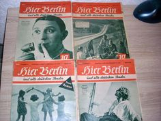 Hier Berlin und alle Deutschen Sender 1938 4 St alte Radio Zeitungen