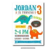 Dinosaur Birthday Invitation  Prehistoric by TracyAnnPrintables