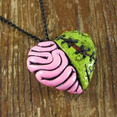 Zombie Heart Locket Necklace