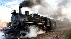 I just adore old steam trains
