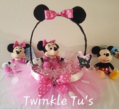 Minnie Mouse Inspired Tutu Easter Basket