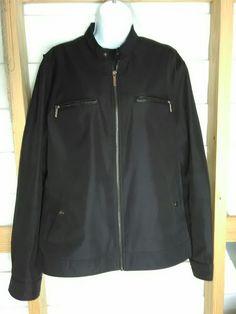 MICHAEL KORS JACKET COAT WINDBREAKER LINED BLACK SILVER 4 POCKET ZIP FRONT NICE! | Clothing, Shoes & Accessories, Women's Clothing, Coats & Jackets | eBay!