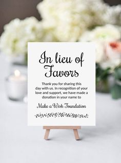 Fresh Donating to your favorite charity in honor of your wedding guests Let them know with