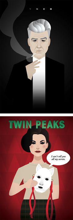 Lynchian - Twin Peaks  Illustrations by Daniel Nyari