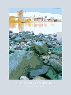 'The Brooklyn Bridge' von Dirk h. Wendt bei artflakes.com als Poster oder Kunstdruck $19.41