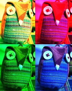 civettine di stoffa Owls, Straw Bag, Burlap, Reusable Tote Bags, Collage, Embroidery, Crafts, Fabrics, Collages