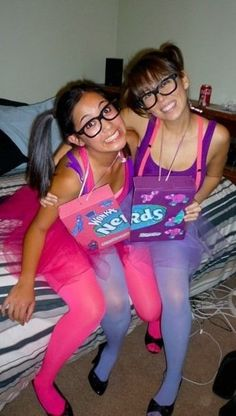 Homemade costume....candy nerds on shoes and glasses also | Things I made | Pinterest | Homemade costumes Costumes and Halloween costumes  sc 1 st  Pinterest & Homemade costume....candy nerds on shoes and glasses also | Things I ...
