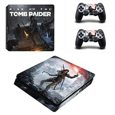 Game Tomb Raider Pro Skin Sticker For Sony PlayStation 4 Console and 2 Controllers Pro Stickers Decal Vinyl Tomb Raider Ps4, Tomb Raider Lara Croft, New Video Games, Classic Video Games, Playstation Games, Ps4 Games, Gear Games, Sony Ps4, Game Development Company