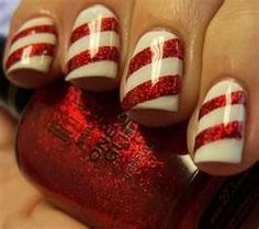 Candy cane fingernails!