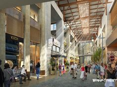 shopping mall interior render - Google Search                                                                                                                                                     More