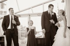 Wedding Reception | Maid of Honor toast | photo by Betsy