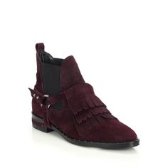 Suede Fringed Harness Ankle Boots from Saks Fifth Avenue