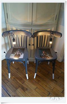 Chevets lumineux (chaises détournées) by Custom' Bricol'