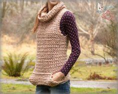 Crochet pattern Cowl top Crochet sweater pattern by ktandthesquid