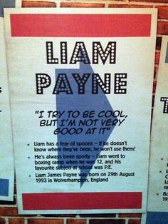 Liam's Quote at .Madame Tussauds. So inspirational