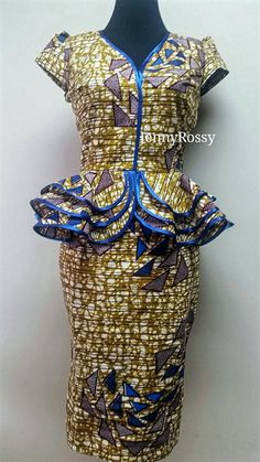 African print Skirt and Top Ankara pencil skirt and by JENNYROSSY