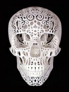 LEO ALEXANDER SCOTT  3D Printed Skull  Sculptures