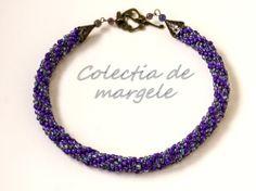 Purple wonderland - corchet beading necklace www.colectiademargele.ro Wonderland, Beading, Purple, Crochet, Bracelets, Collection, Jewelry, Beads, Jewlery