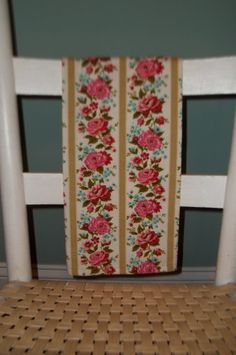 Tea Towel Vintage Waverly Fabric Cabbage Roses by TheSpiralHill, $10.00