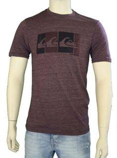 "Quiksilver Men's ""Alter-MH7"" T-Shirt Maroon 112H7MX2-WNE"