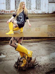 Moda: Botas para la lluvia
