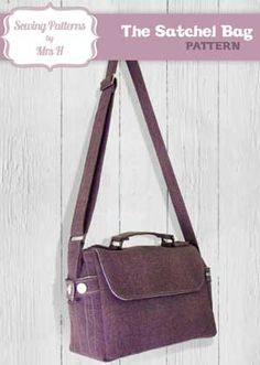 New Designer just added - Sewing Patterns by Mrs. H! The Satchel Bag Pattern in PDF - very practical and cute!