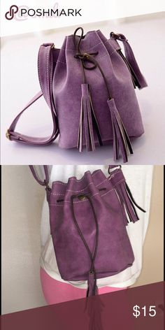 New Arrival 🌺 Purple Bag Purple Bag with drawstring closure. Adjustable shoulder strap. 🌟 Bundle and Save 🌟 Reasonable Offers Welcomed Bags Mini Bags